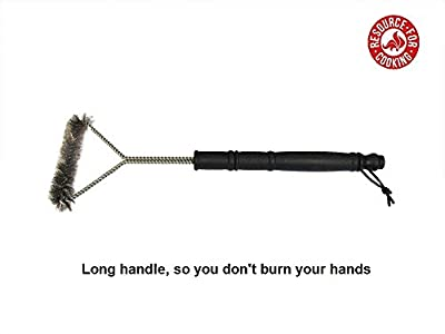 Grill Brush 16-inch Stainless Steel. Sale On! Safe for BBQ Grills & Smokers. 18-months Guarantee