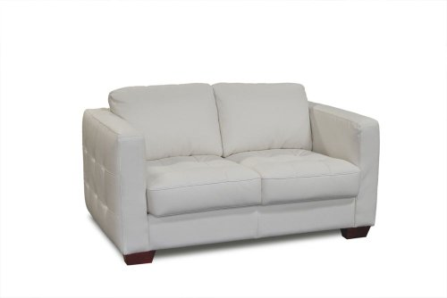 Buy Low Price Diamond Sofa Berkley Tufted Loveseat (White) (61″W x 37″D x 34″H) (berkleyloveseatw)