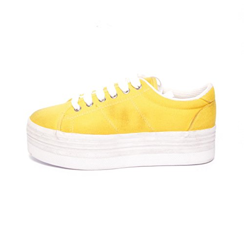 JEFFREY CAMPBELL - .ZOMG CANVAS WASH - YELLOW W, 41