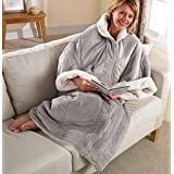Super Warm 3- 1 Multi Purpose Reversible Cozy Wrap/Blanket with Sleeves