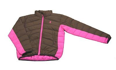 Browning Women's 700 Down Chocolate/Pink Jacket Large Md: 3047713103.