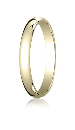 14K Yellow Gold, 3.0mm Traditional Dome Oval Ring (sz 13)