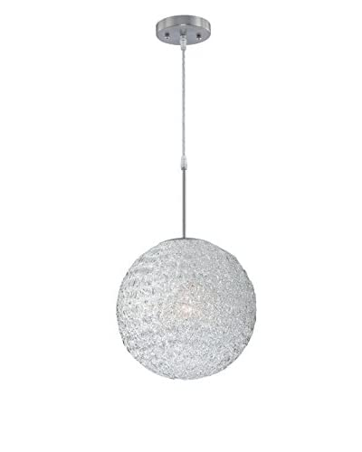 Lite Source Icy Pendant, Polished Steel/Clear