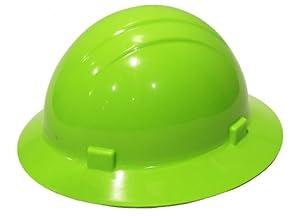 ERB 19200 Americana Full Brim Hard Hat with Slide Lock, Flourescent Lime