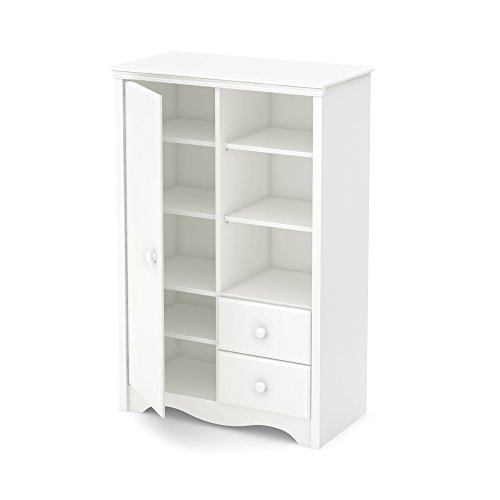 South Shore Heavenly Armoire with Drawers, Pure White - 1