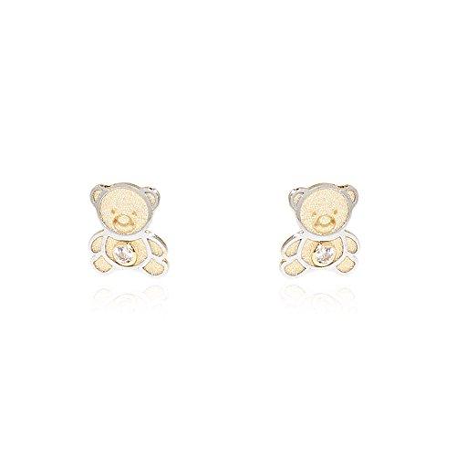 monde-petit-t1860pr-orecchini-per-bambini-orso-due-ori-18k-750