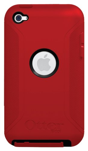 OtterBox Defender Series Hybrid Case for iPod touch 4G (Black/Red)