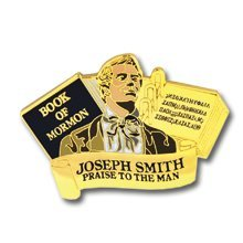 LDS Joseph Smith translation of the Book of Mormon lapel pin