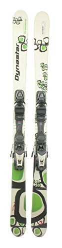 Used Dynastar Serial Trouble Twin Tip Kids Snow Skis With Nova 7 Binding 148Cm A front-61515
