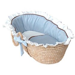 All-Time Classic Moses Basket - Color Blue