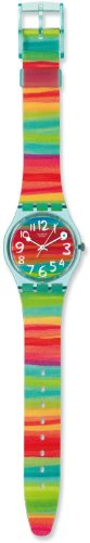 Swatch Womens GS124 Quartz Rainbow Dial Plastic Watch