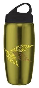 Innate Gear HB850V2 MAOLV OLI BLK Fresco V2 Printed Stainless Steel Water Bottle, 29-Ounce (Olive/Black with Maori Leaves Print)