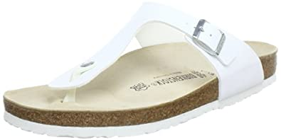 Birkenstock Gizeh, Womens-Adults' Sandals, White (WEISS), 37 EU, 4 UK