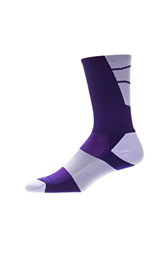 CSI Point Guard Performance Crew Socks Made In The USA Purple/White (Custom Made Socks compare prices)