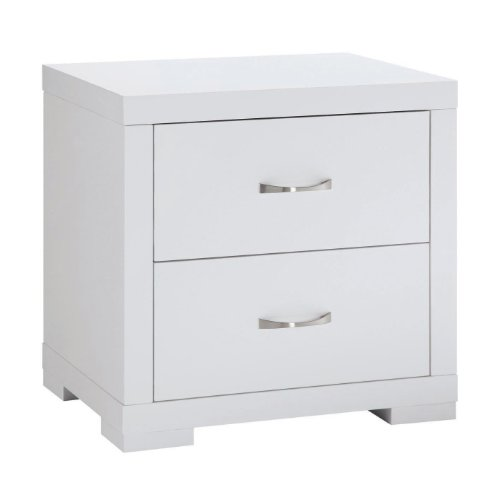 Luna 2 Drawer Bedside Cabinet in White