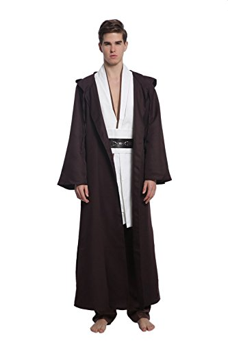 [FSTY Fashion Men`s Costume Full Cosplay set (L, brown)] (Jedi Costume Amazon)