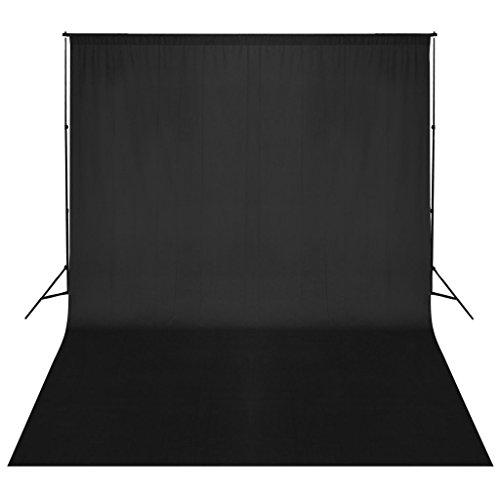 Support de fond de studio photo avec fond noir 500x300 cm