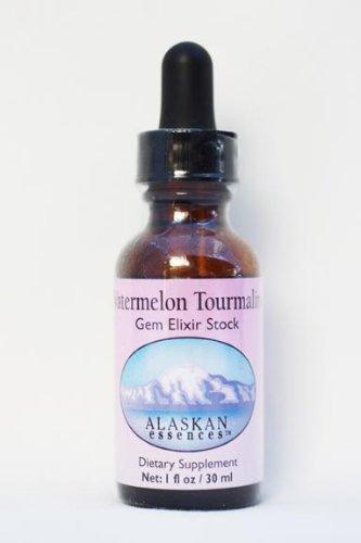 Alaskan Essences Watermelon Tourmaline Gem Elixir Stock Dietary Supplement 1 Oz Size
