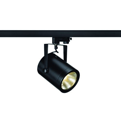 SLV 3-Phasen Strahler Eurospot LED, 21W, COB, 3000 K, 36 Grad, inklusiv Adapter, schwarz 153810