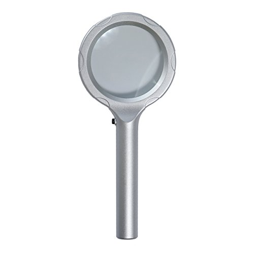 "Heritage Products 3"" Round Silver 2x Magnifying Glass w/ LED"
