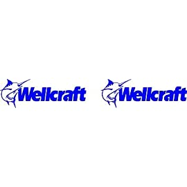 Wellcraft boat hull restoration decal Kit graphics - Made in USA size 11