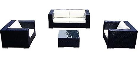 Baidani 10c00016.00001 Sitzgruppe Mirage, 4-teilig, schwarz