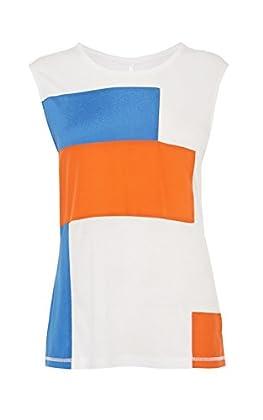 Colour block jersey vest
