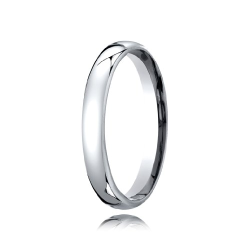 Traditional Edge Contemporary Comfort Fit Platinum Wedding Band - 3.5mm