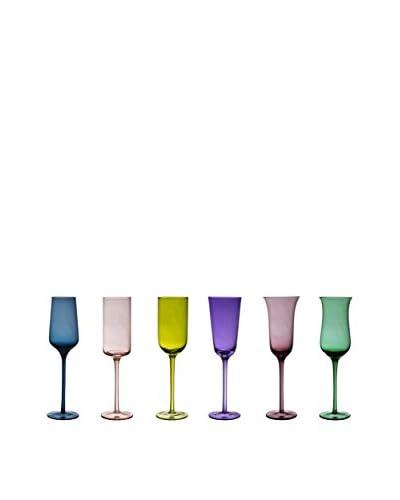 Bitossi Home Set Cáliz 6 Uds. Champagne Desigual Multicolor