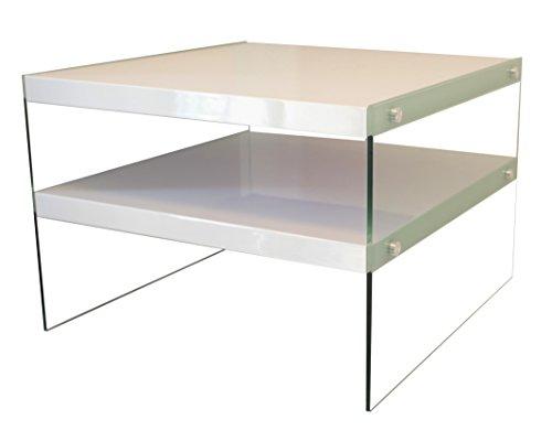 bonVIVO-Designer-Couchtisch-Victoria-Beistelltisch-in-moderner-Glas-Holz-Kombination-wei-Hochglanz-lackiert