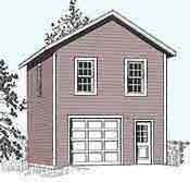 garage plans one car two story garage plan 722 2