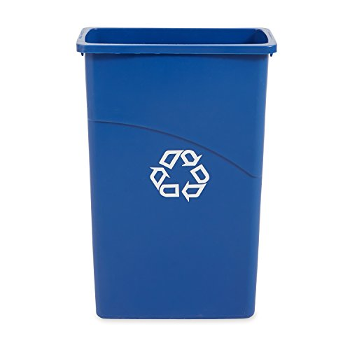 Rubbermaid Commercial Slim Jim Recycling Bin Plastic, 23 Gallons, Blue (354075BE) (Recycle Can With Lid compare prices)
