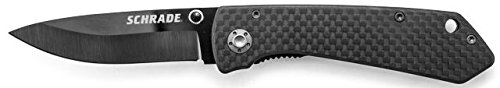 Schrade Sch402 Ceramic Liner Lock Folding 2.7-Inch Knife With Carbon Fiber Handle