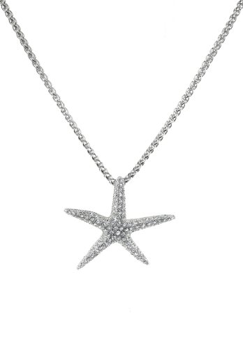 As Seen on TV! Large Starfish Pendant with Swarovski Crystals