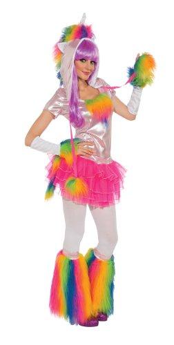 Rubie's Costume Deluxe Unicorn and Headpiece, Rainbow, Small