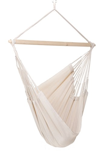 Colombian Hammock Chair - 44 inch - Natural Cotton Cloth (Natural) (Cheap Caribbean compare prices)