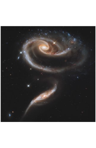 Nasa Space Posters (Set Of 4) 11X17 In (28X34 Cm) Ready-For-Framing Professional Astronomy Photographs From Hubble Space Telescope. Includes: Rose Galaxies, Interacting Spiral Galaxies, Galactic Wreckage, Dust Band Around Nucleus Galaxy. As Seen On New Fo