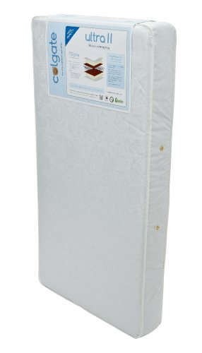 Colgate Ultra Ii 150 Coil Innerspring Crib Mattress, White
