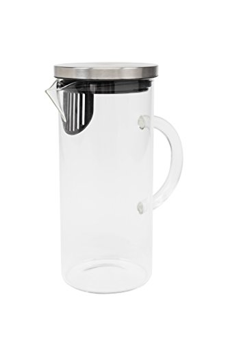 Click Clack Pitcher, Small/1.0 L/1.0 quart, Stainless Steel (Click Clack Stainless Steel compare prices)