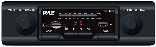 Pyle PLR14MPF In-Dash AM/FM-MPX MP3 Shaft Style Dual Knob Radio with USB/SD Card (Rsx Knob compare prices)