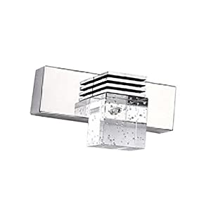 Modern Brief Bathroom Lights Single Crystal AC85-265V 3W High Power Led Mirror light Wall Lamp Lighting