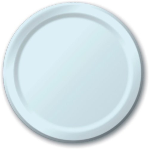 """Creative Expressions Paper 7"""" Luncheon Plate 24-Pack: Pastel Blue - 1"""