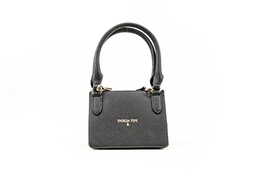 BORSA PATRIZIA PEPE SHOPPING RICHIUDIBILE NYLON NERO 2V6581 A1ZL-H305