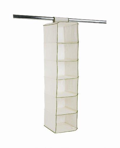 H & L Russel Ltd Système de rangement pour pulls 6 compartiments Taupe/vert