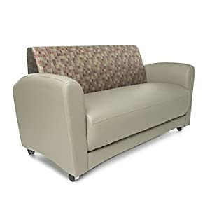 Interplay sofa without tablet arms plum for Settee without back
