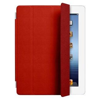 【アップル 純正】Apple iPad2 & The New iPad (第3世代) Smart Cover スマートカバー 革製 【 Red 】