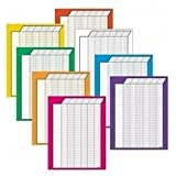 Trend T73901 Vertical Jumbo Incentive Charts, 22 x28, 50 Rows/30 Columns, 8/pack