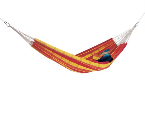 :Amazonas, Barbados Papaya, Double Hammock (Size XL), without stand, Lying Surface: Approx. 230x150cm