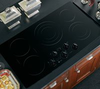 GE Profile CleanDesign PP962BMBB 36 Smoothtop Electric Cooktop- Black