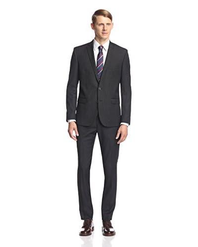 Ben Sherman Men's Two Button Stripe Suit